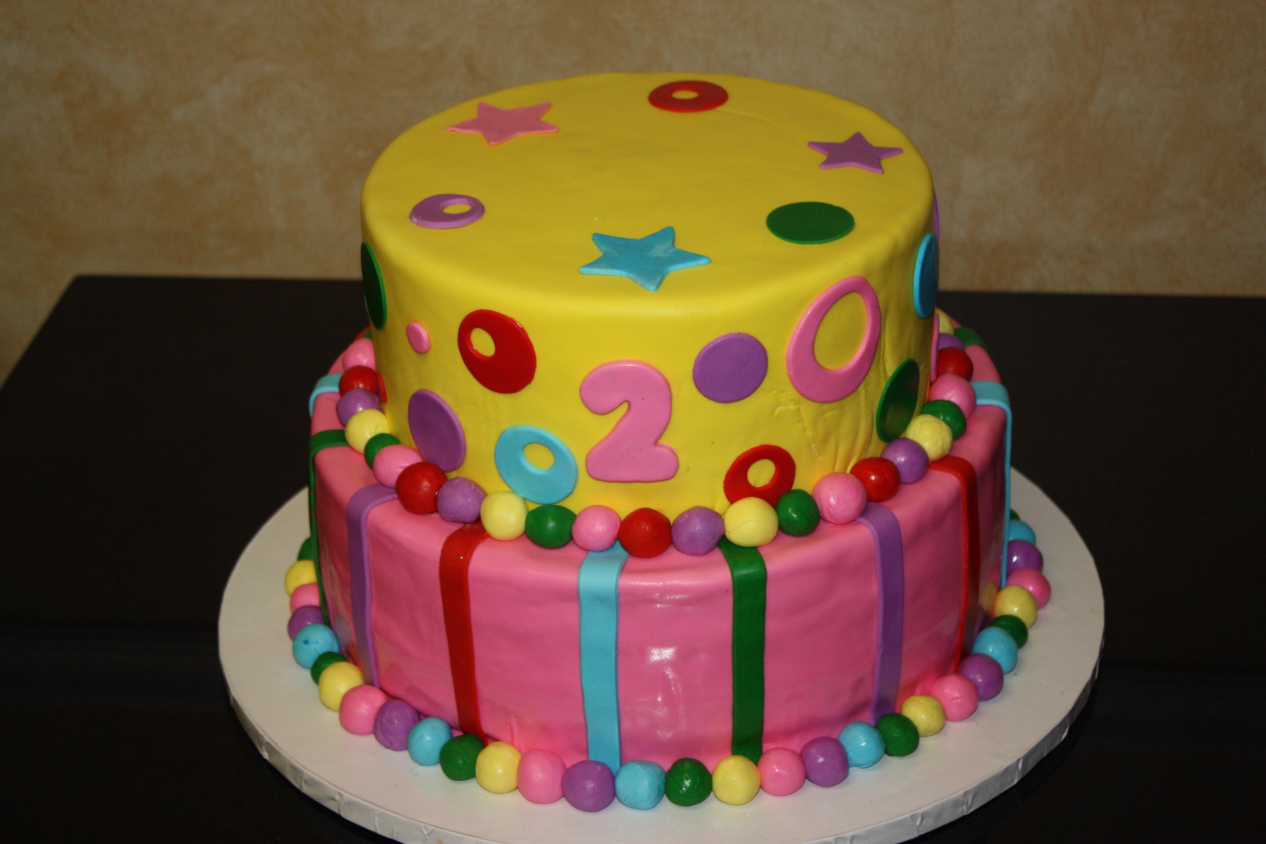 2nd Birthday Fondant Cake