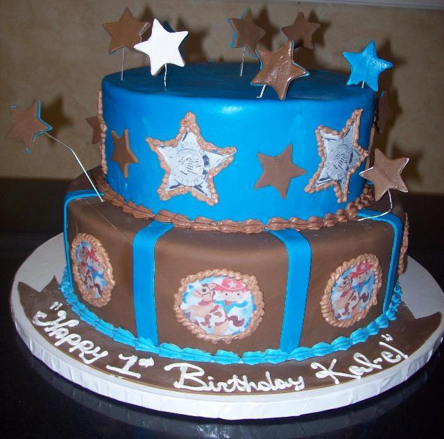 1st Birthday Fondant Cake Sheriff
