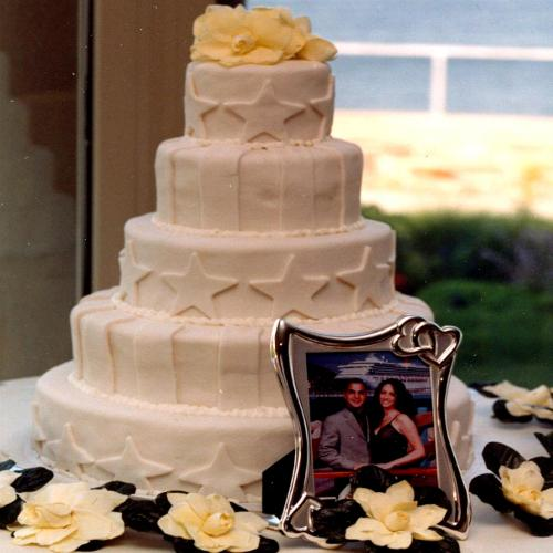 Stars & Stripes Fondant Cake