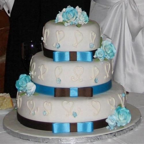Hearts Fondant Cake