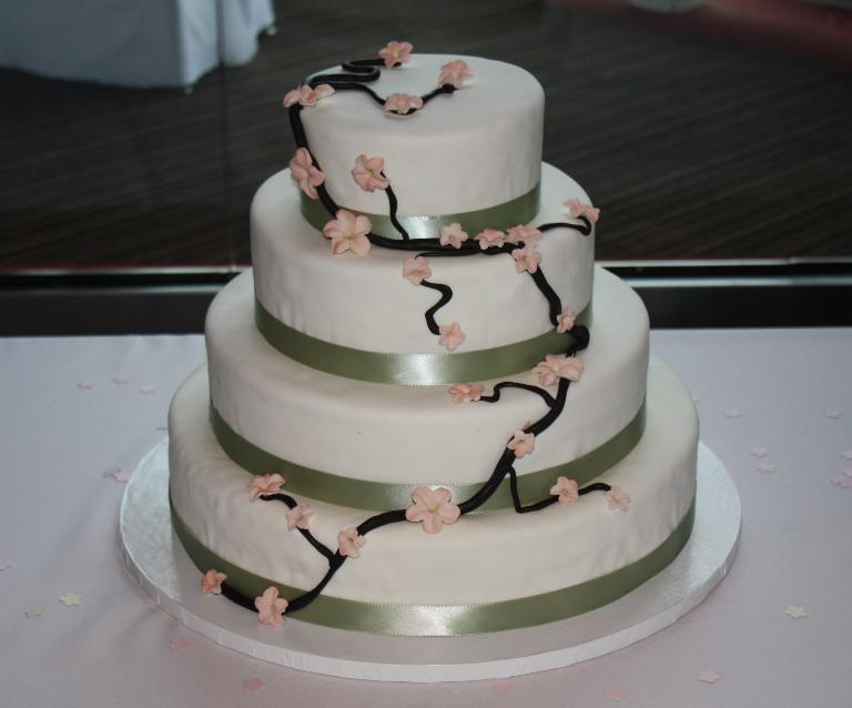 Cherry Blosson Fondant Cake