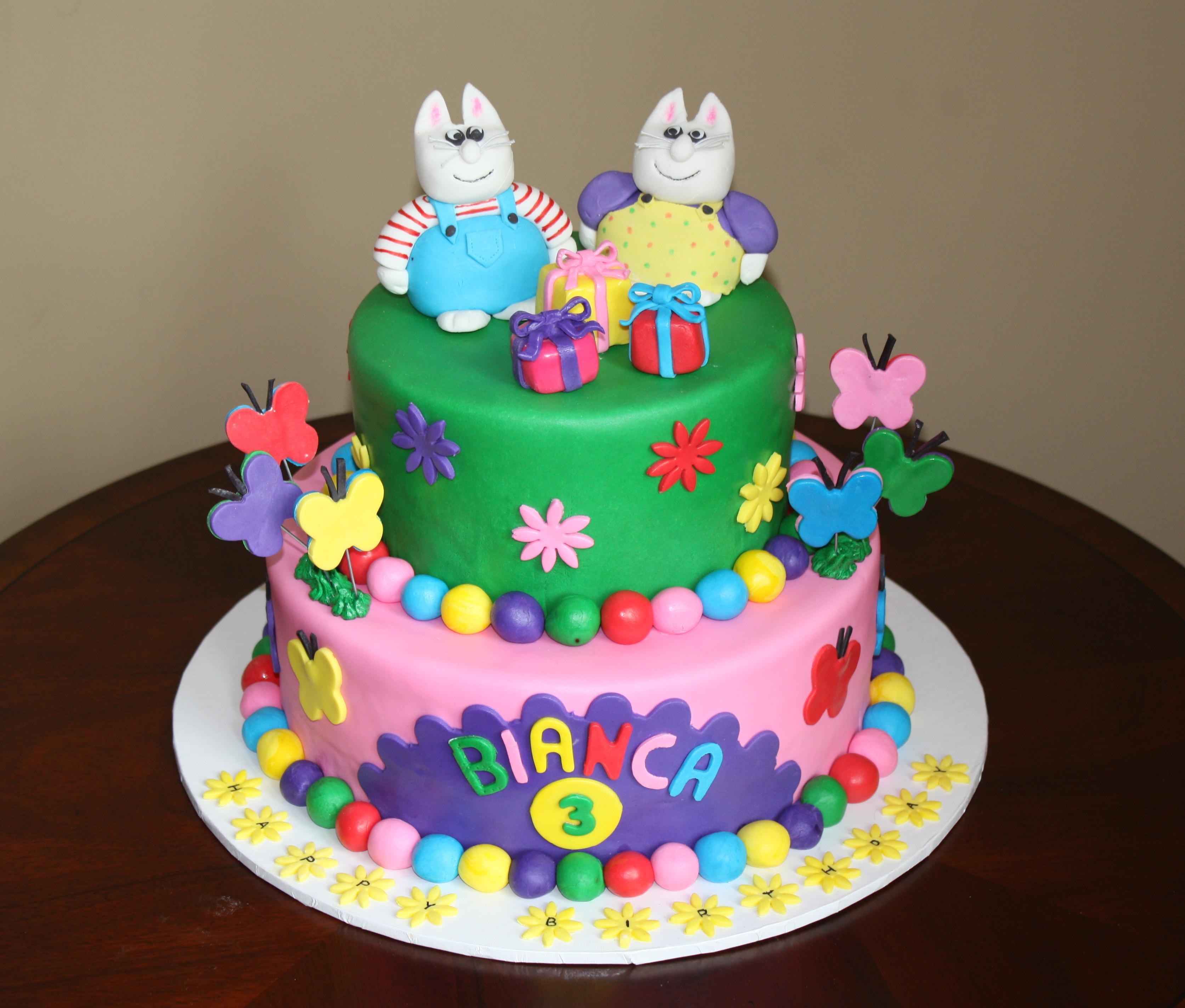 Max & Ruby Fondant Cake
