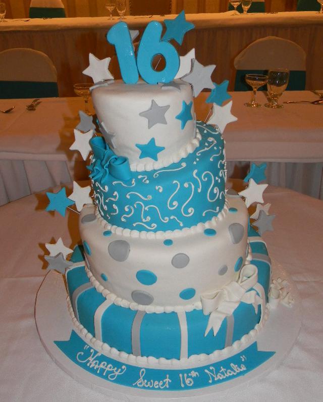 Sweey 16 Fondant Cake Topsy Tervy