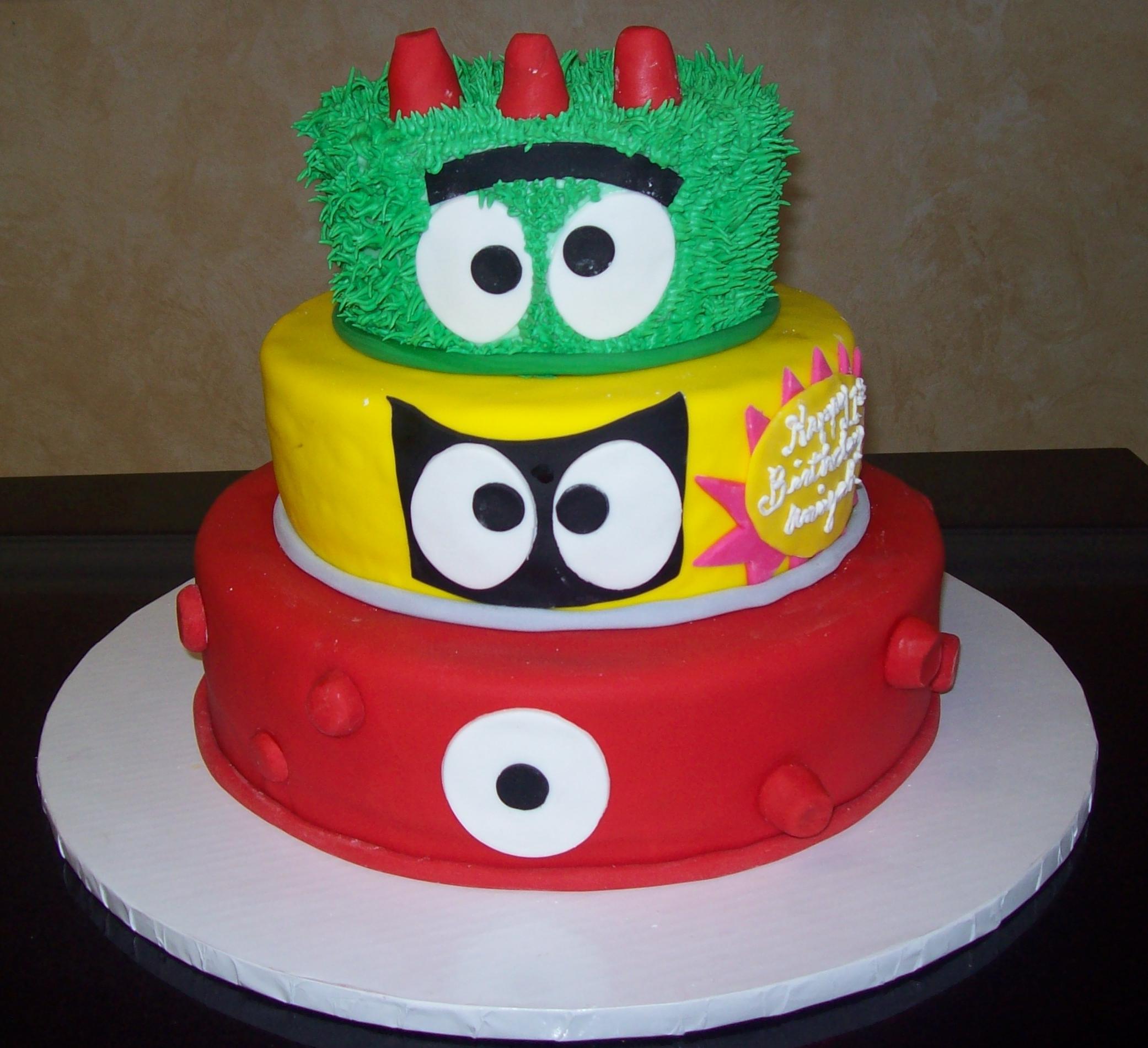 Yo Gabba Gabba Fondant Cake
