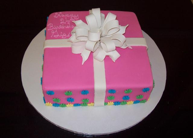 Square Baby Shower Cakes